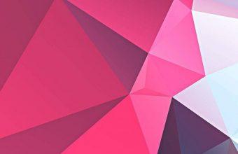 3D Pink Polygon 1080x2460 340x220
