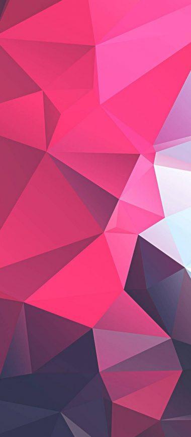 3D Pink Polygon 1080x2460 380x866