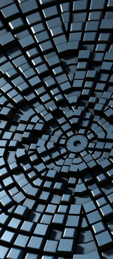 3D Silver Small Blocks 1080x2460 380x866