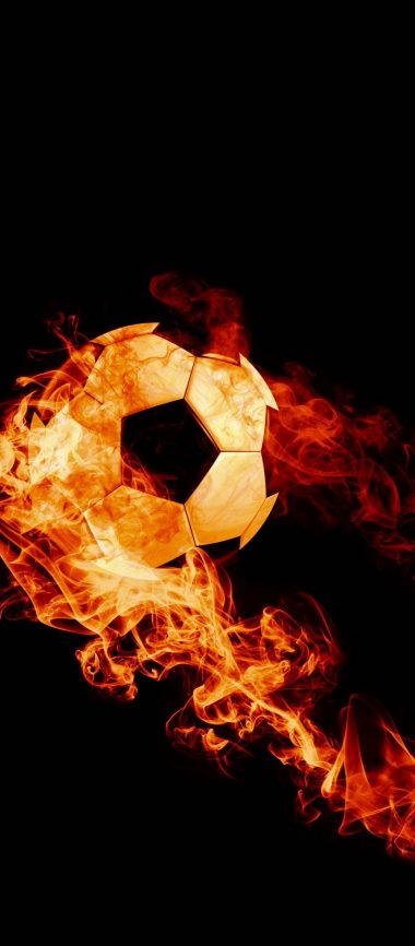 Ball Fire Football 1080x2460 380x866