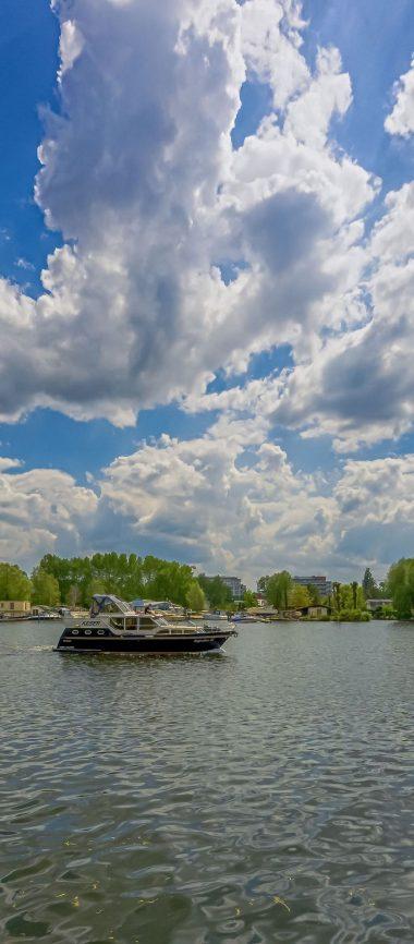 Berlin Koepenick River Boat Sky 1080x2460 380x866