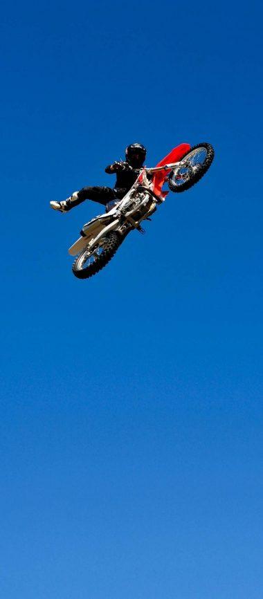 Bike Jump Blue Sky 1080x2460 380x866