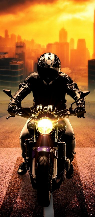 Biker Bike Motorcycle 1080x2460 380x866