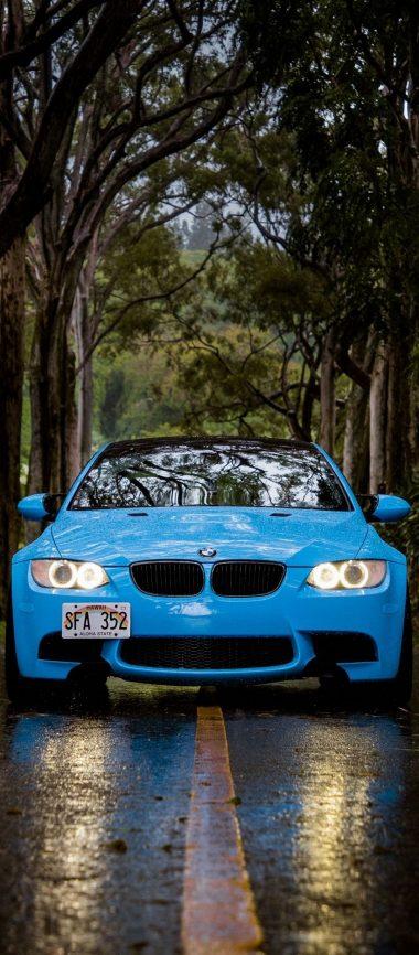 Blue BMW 5 Car 1080x2460 380x866
