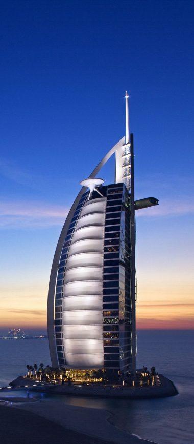 Burj Al Arab Hotel Dubai Uae Sky 1080x2460 380x866