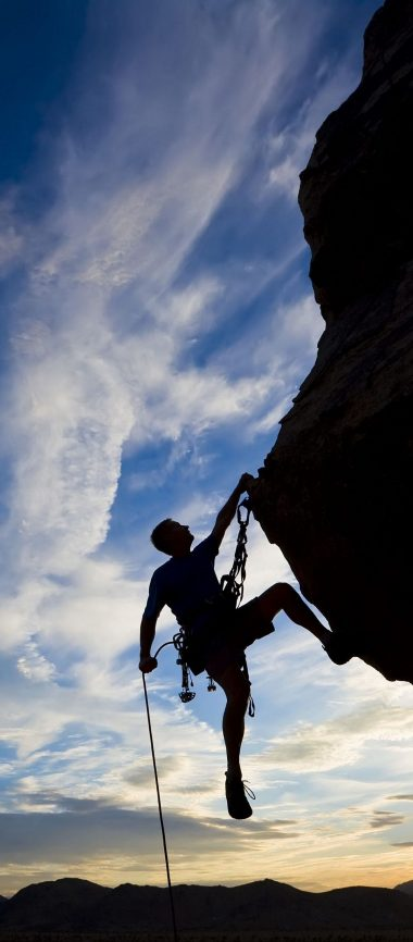 Climber Extreme Silhouette Climbing 1080x2460 380x866