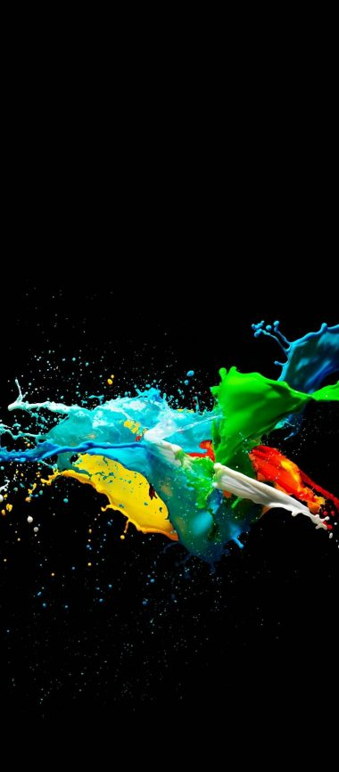 Colorful Painted Black Background 1080x2460 380x866