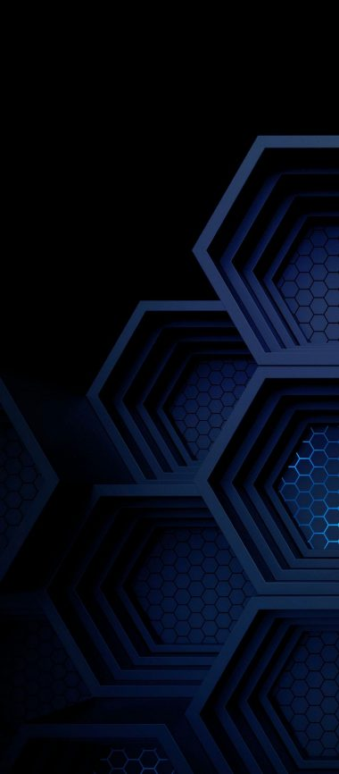 Dark Blue Boxes 3D Abstract 1080x2460 380x866