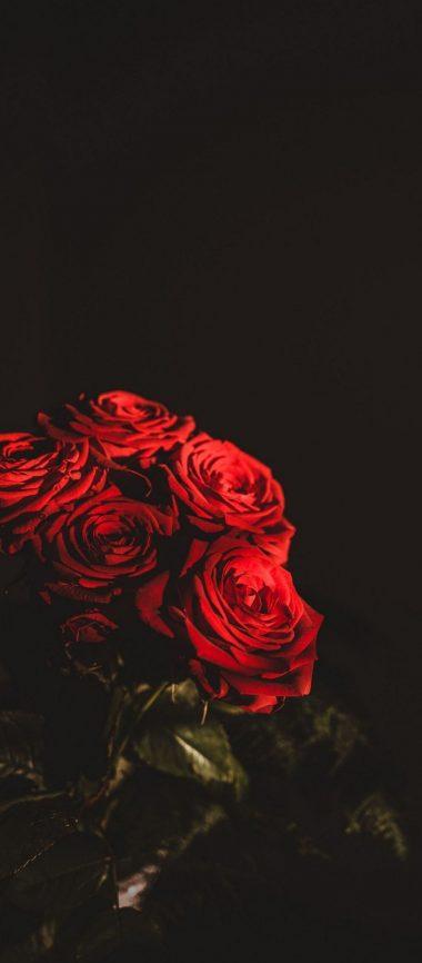 Dark Red Flowers Bouquet 1080x2460 380x866