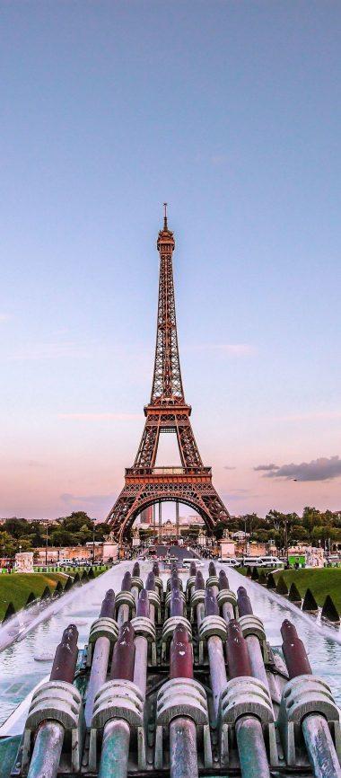 Eiffel Tower Paris Gold Evening France 1080x2460 380x866