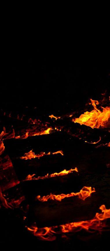 Fire Lines Black Background 1080x2460 380x866