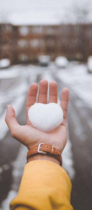 Hand Snow Heart 1080x2460 380x866