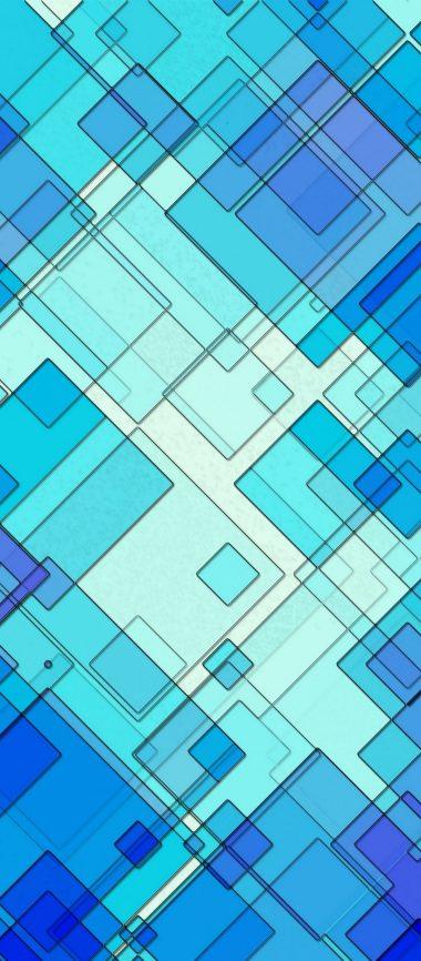 Lines Shapes Stripes Blue 1080x2460 380x866