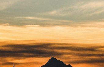 Mountain Sunset Sky Nature 1080x2460 340x220