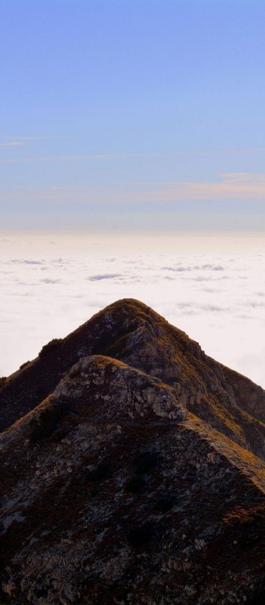 Mountain Top Sky Clouds Carrega 1080x2460 380x866