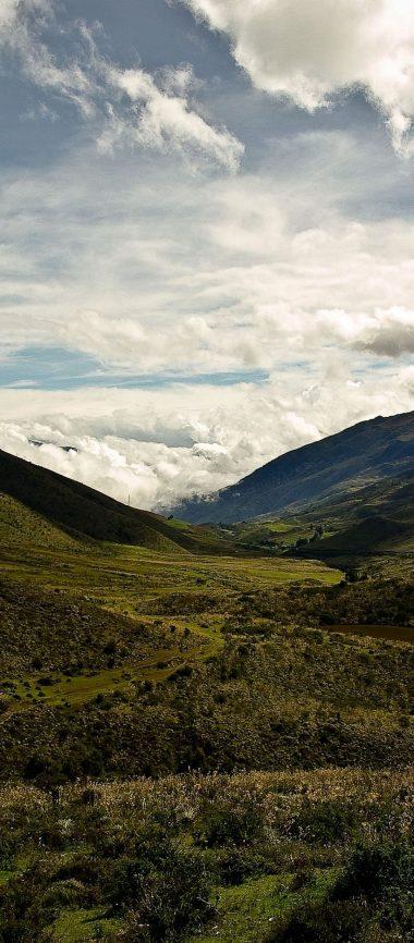 Mountains Grass Sky 1080x2460 380x866
