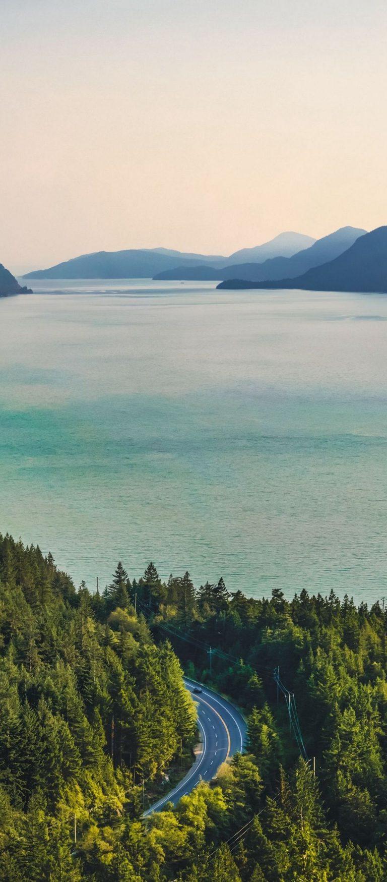 Mountains Lake Trees Road 1080x2460 768x1749