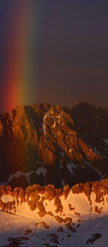 Mountains Sky Rainbow Snow 1080x2460 380x866