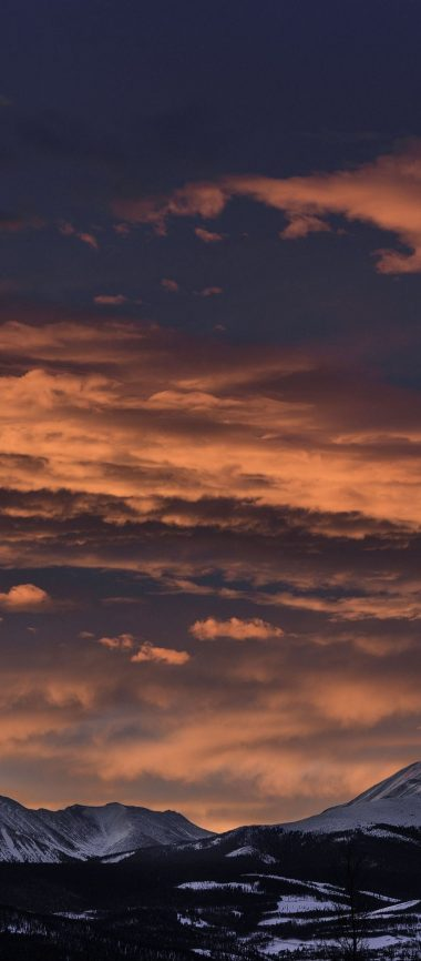 Mountains Sunset Clouds Peaks 1080x2460 380x866