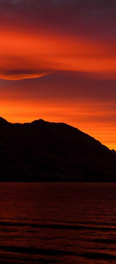 Mountains Sunset Skyline Sky 1080x2460 380x866