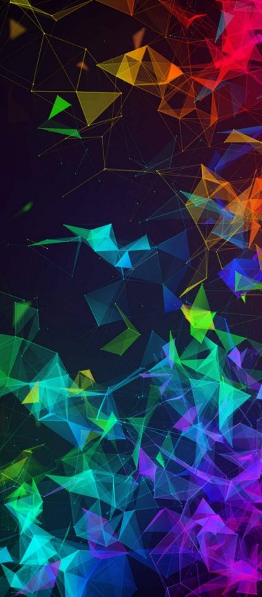 Multi Color Polygon 1080x2460 380x866