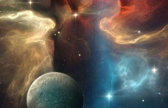 Multicolor Space Planet 1080x2460 340x220