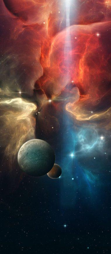 Multicolor Space Planet 1080x2460 380x866