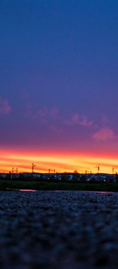 Night Sky Sunset Road 1080x2460 380x866