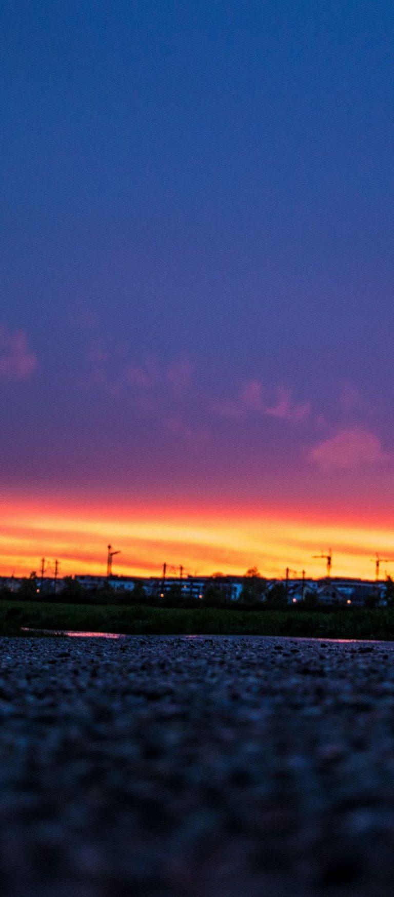 Night Sky Sunset Road 1080x2460 768x1749