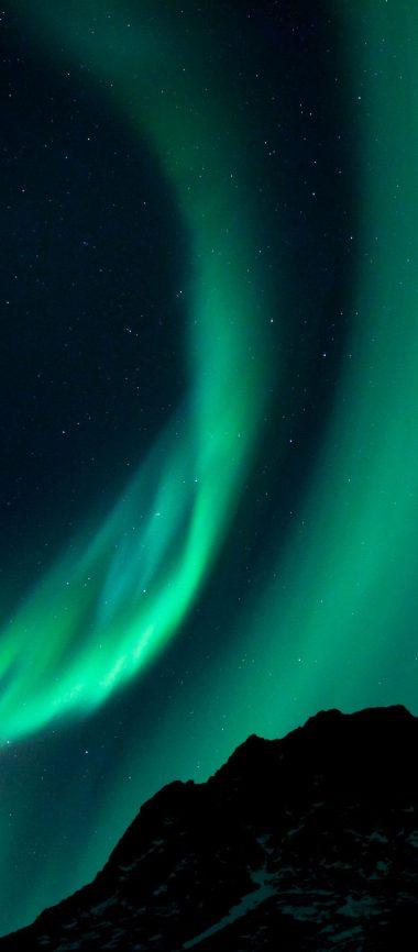 Northern Lights Night Night Sky 1080x2460 380x866