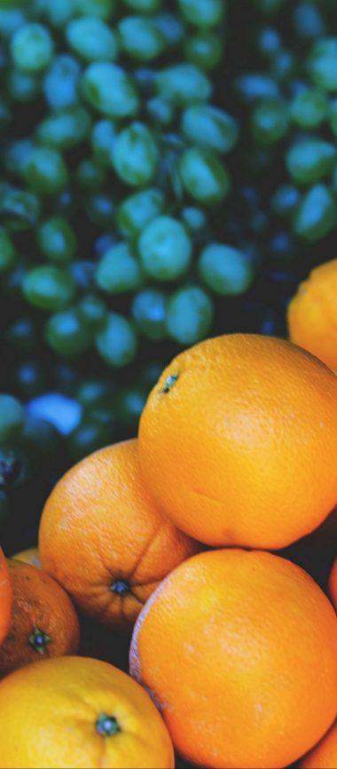 Oranges Grapes Fruit 1080x2460 380x866