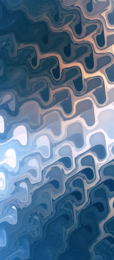 Painted Blue 3D Abstract 1080x2460 380x866