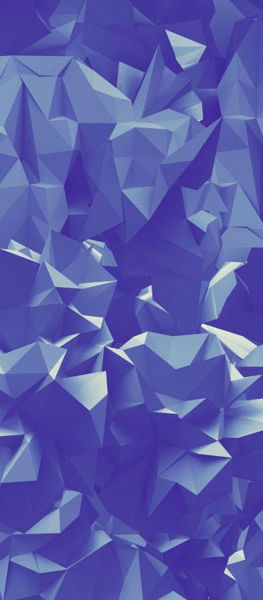 Paper Folds Triangles Geometric 1080x2460 380x866