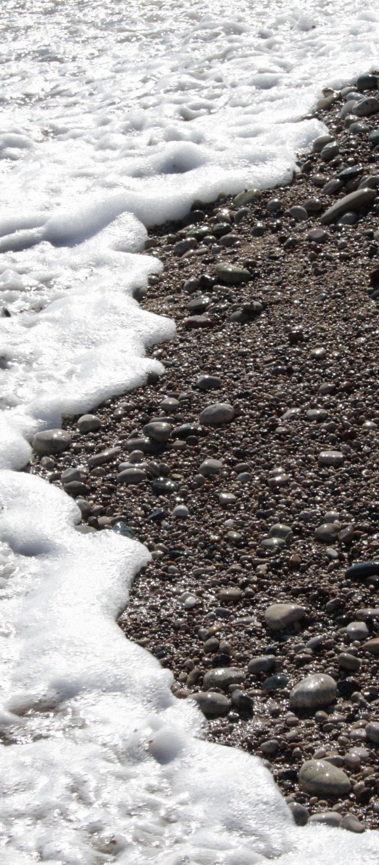 Pebble Stones Sea Waves Whisper Foam 1080x2460 768x1749