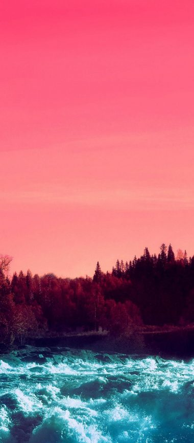 Pink Sky Nature Water 1080x2460 380x866