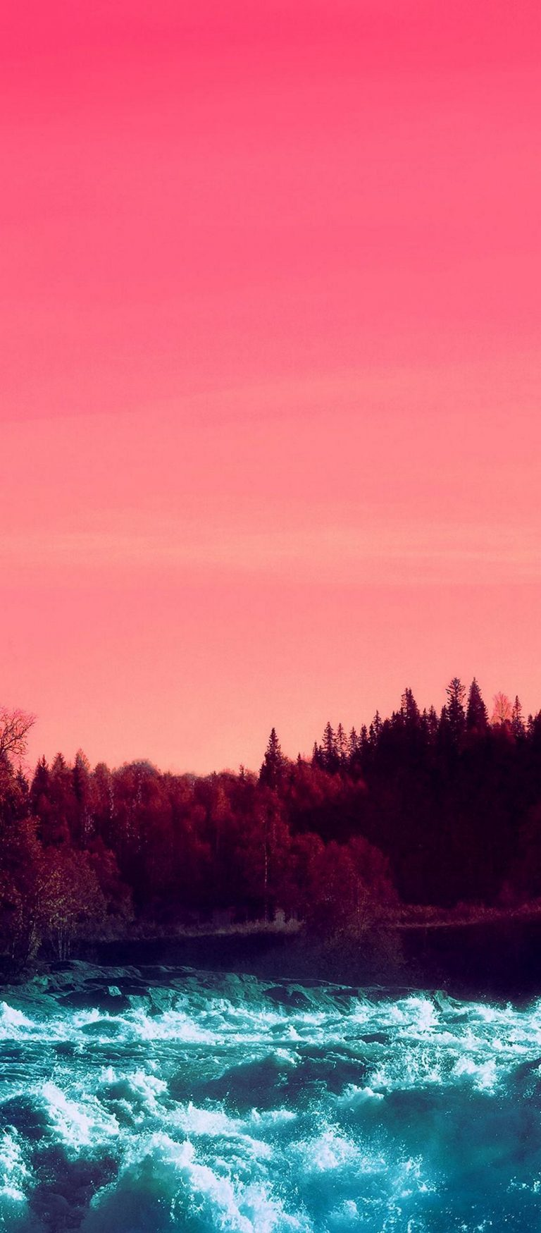 Pink Sky Nature Water 1080x2460 768x1749
