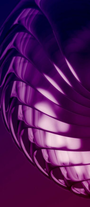 Purple Layers 3D Abstract 1080x2460 380x866