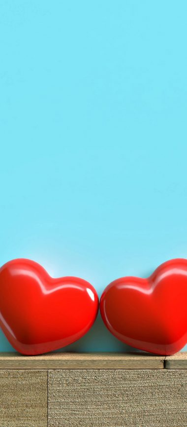 Red Hearts Love 1080x2460 380x866