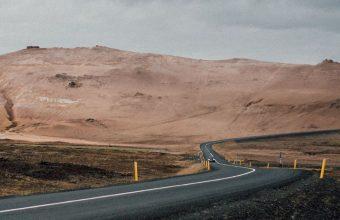 Road Asphalt Mountains Marking 1080x2460 340x220