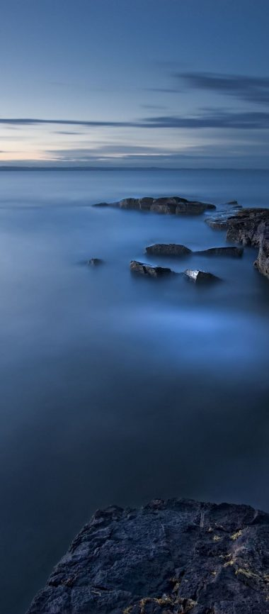 Sea Evening Twilight Great Britain 1080x2460 380x866