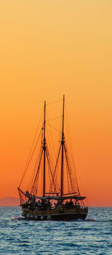 Sea Sailboat Horizon 1080x2460 380x866