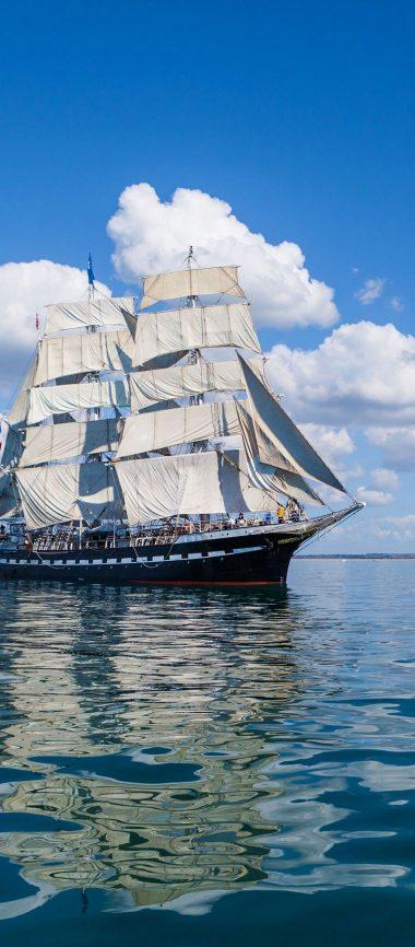 Ship Sea Sky Sail 1080x2460 380x866