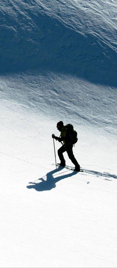 Skier Snow Climb Sport 1080x2460 380x866