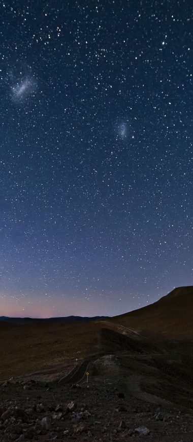 Sky Constellations Night Desert Mountain 1080x2460 380x866