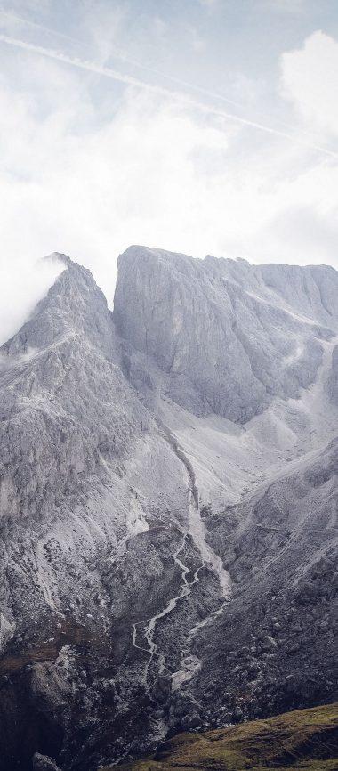 South Tyrol Bolzano Mountains Clouds 1080x2460 380x866