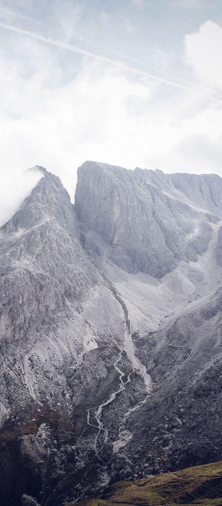 South Tyrol Bolzano Mountains Clouds 1080x2460 768x1749