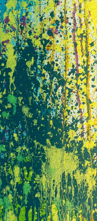 Splashes Multicolored Abstract 1080x2460 380x866
