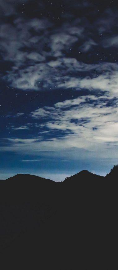 Stars Night Sky Mountains 1080x2460 380x866