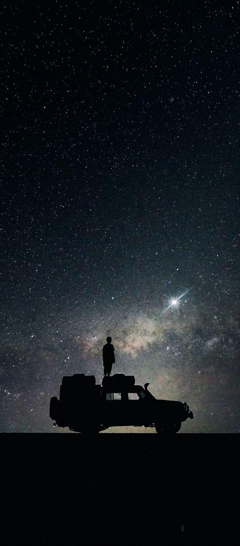 Stars Sky Space Car 1080x2460 768x1749
