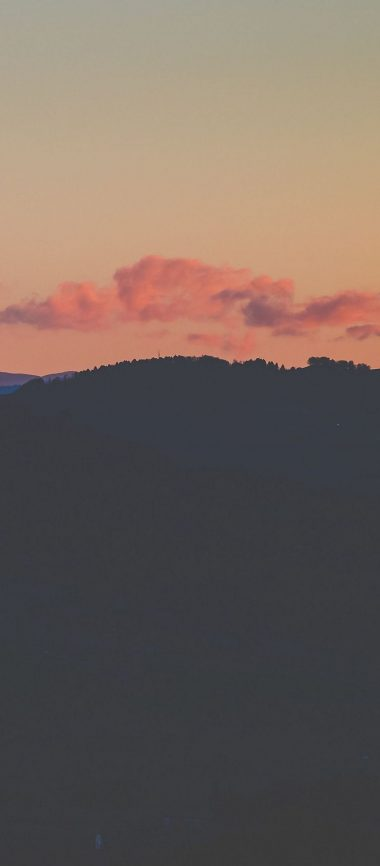 Sunset Horizon Sky Clouds Night 1080x2460 380x866